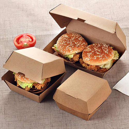 Branded burger boxes